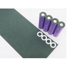 Никелевая пластина + изоляторы для точечной сварки аккумуляторов.